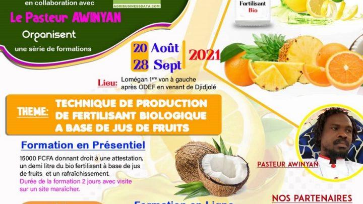 Fabrication des bio fertilisants à base de jus de fruits