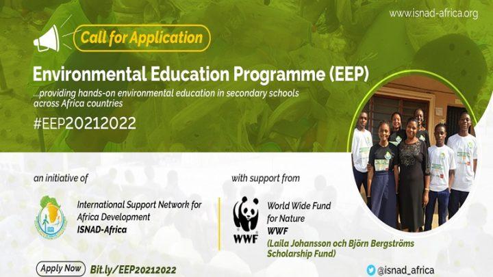 APPEL À CANDIDATURES : PROGRAMME D'ÉDUCATION À L'ENVIRONNEMENT (EEP) 2021